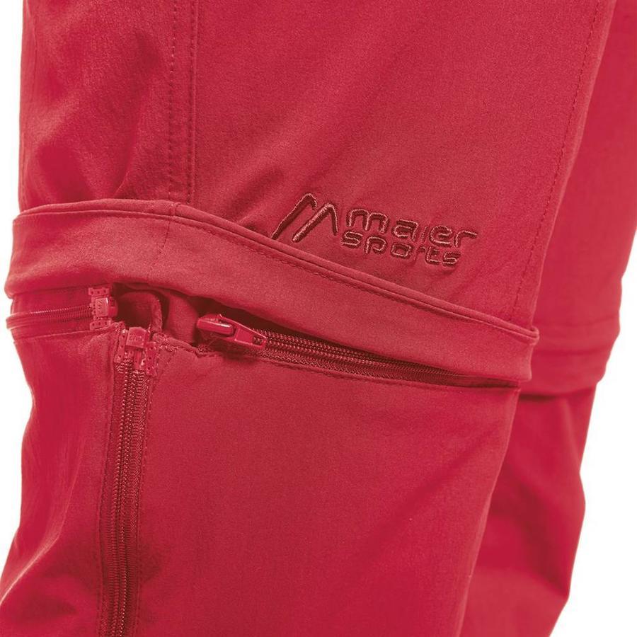 Tajo Pants Zip-Off Lang Rood Outdoorbroek Heren