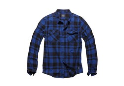 Vintage Industries Austin Shirt Blue Check Heren