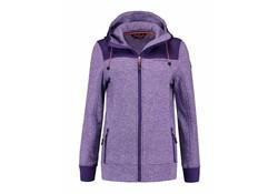 Life Line Mosken Purple Fleece Jack Dames