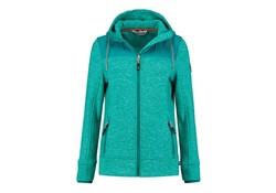 Life Line Mosken Turquoise Fleece Jack Dames