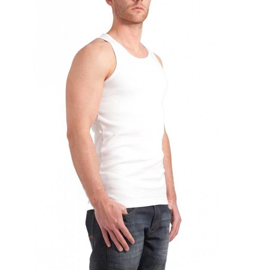 Semi Bodyfit Singlet T-Shirt Wit Heren