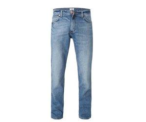 Lichte Spijkerbroek Heren : Wrangler greensboro used stone jeans heren