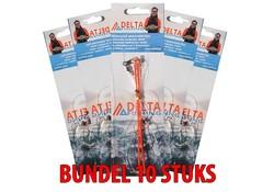 Delta Fishing 10x BUNDEL 3-Haaks Zeevis Onderlijn nr. 6 Dwarrel/Afh.