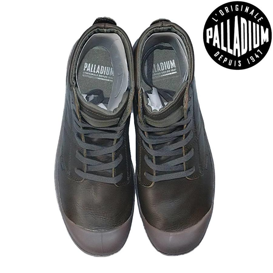 Pallabrouse Olive Night Dark Gum Leer Schoenen Heren