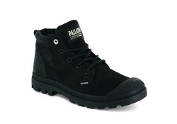 Palladium Pampa Lo Cuff Leer Black Green Sheen Schoenen Dames