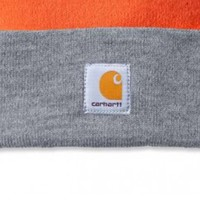 Watch Hat Bright Orange Heather Gray Muts