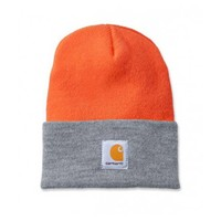 Carhartt Watch Hat Bright Orange Heather Gray Muts