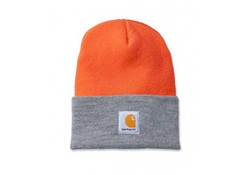 Carhartt Watch Hat Bright Orange Heather Gray Muts Uniseks