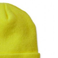 Watch Hat Bright Lime Muts Uniseks
