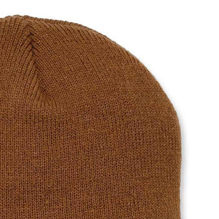 Acrylic Knit Hat Bruin Muts