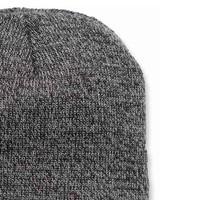Acrylic Knit Hat Coal Heather Muts Uniseks