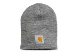 Carhartt Acrylic Knit Hat Heather Grey Muts Uniseks