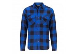 Life Line Joris Blauw Gevoerd Overhemd Heren