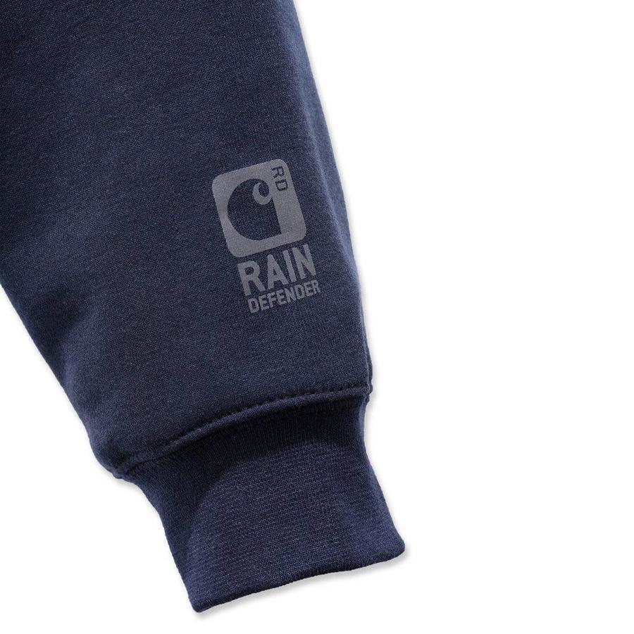 Rutland Thermal Lined Zip Front Sweatshirt New Navy Heren