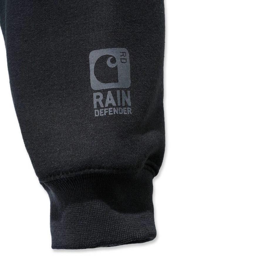 Rutland Thermal Lined Zip Sweatshirt Zwart Heren