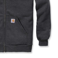 Rutland Thermal Zip Front Sweatshirt Carbon Heather Heren