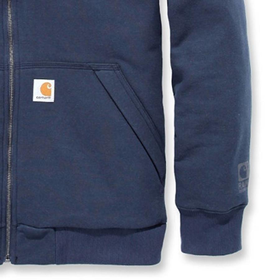 Rockland Quilt-Lined Hooded Sweatshirt Navy Heren