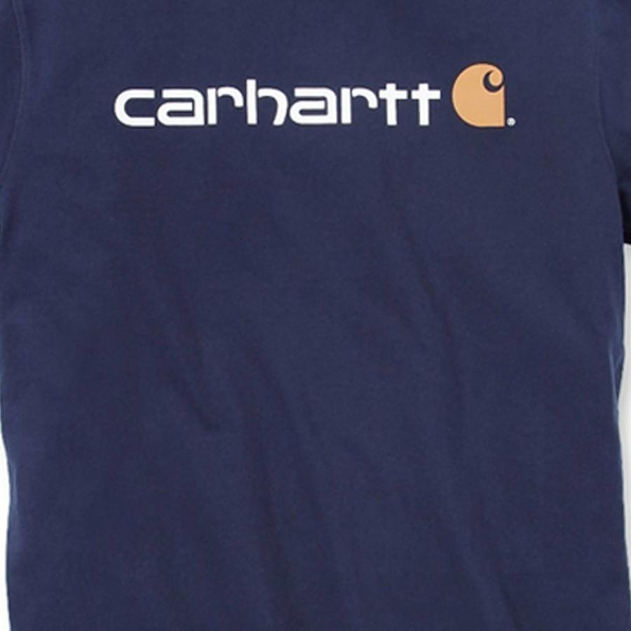 Core Logo Navy T-Shirt Heren