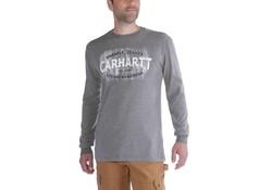 Carhartt Maddock Rugged Workwear Logo Graphic L-S Granite Heather Shirt Heren