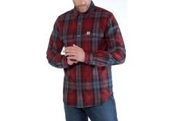 Carhartt Hubbard Slim Fit Flannel Shirt Dark Crimson Heren
