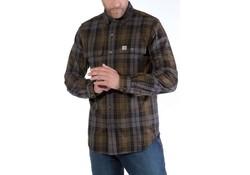 Carhartt Hubbard Slim Fit Flannel Shirt Moss Heren