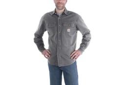 Carhartt Weathered Canvas Shirt Jacket Gravel Heren