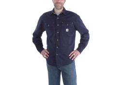 Carhartt Weathered Canvas Shirt Jacket Navy Heren