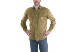 Carhartt Weathered Canvas Shirt Jacket Frontier Brown Heren