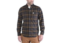 Carhartt Hamilton Plaid Long Sleeve Shirt Army Green Shirt Heren