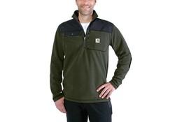 Carhartt Fallon Half-Zip Sweatshirt Olive Vest Heren