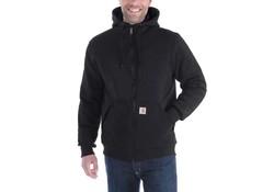 Carhartt Rockland Quilt-Lined Full-Zip Hooded Sweatshirt Zwart Heren