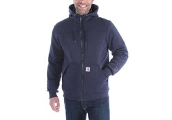 Carhartt Rockland Quilt-Lined Full-Zip Hooded Sweatshirt New Navy Heren