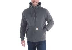 Carhartt Rockland Quilt-Lined Full-Zip Hooded Sweatshirt Carbon Heather Heren