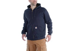 Carhartt Rutland Thermal Lined Zip Front Sweatshirt New Navy Heren