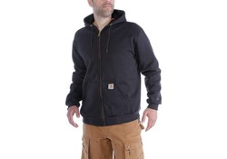 Carhartt Rutland Thermal Lined Zip Front Sweatshirt Zwart Heren