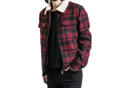 Vintage Industries Cavan Jacket Red Check Heren