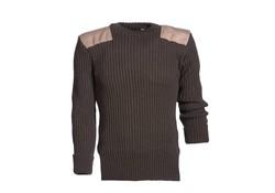 MGO Leisure Wear Vintage Trim Sweater Peat Brown Heren