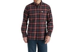 Carhartt Hamilton Plaid Long Sleeve Shirt Fired Brick Shirt Heren