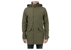 Agu Outdoor Long parka Regenjas Army Green Heren