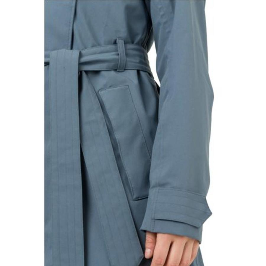 Urban Outdoor Trench Coat Dusty Blue Dames