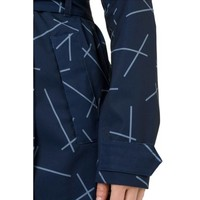 Urban Outdoor Trench Coat Long Navy Blue Dames
