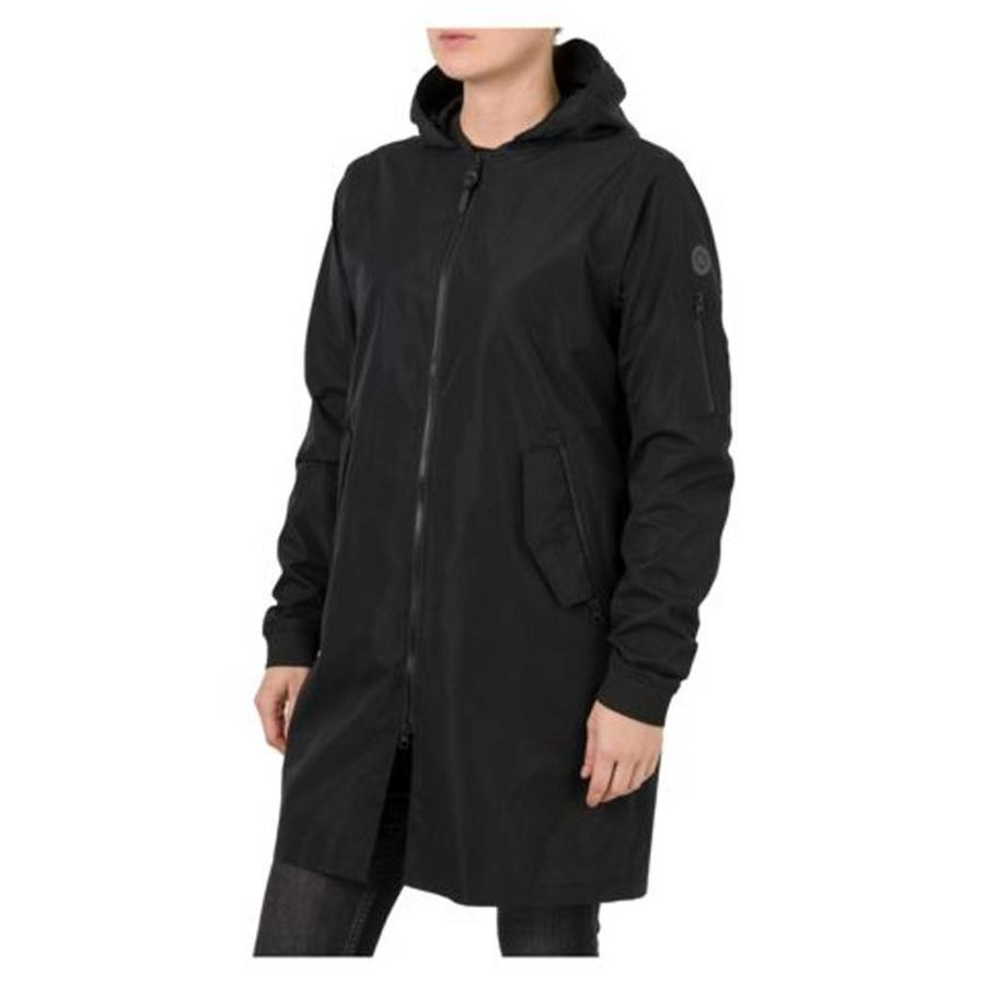 Urban Outdoor Long Bomber Regenjas Zwart Dames