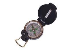 Lens/Peilkompas Zwart Metaal Kompas