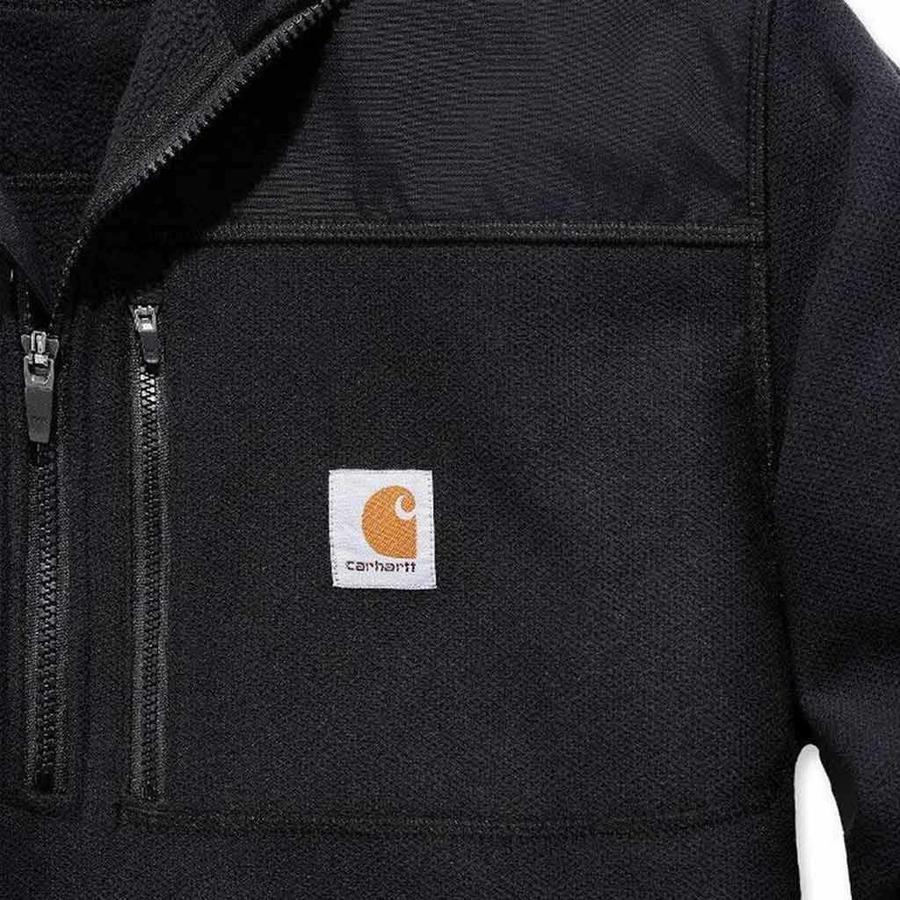 Fallon Half-Zip Sweatshirt Zwart Vest Heren