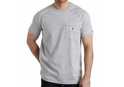 Carhartt Force Cotton Heather Grey T-Shirt Heren