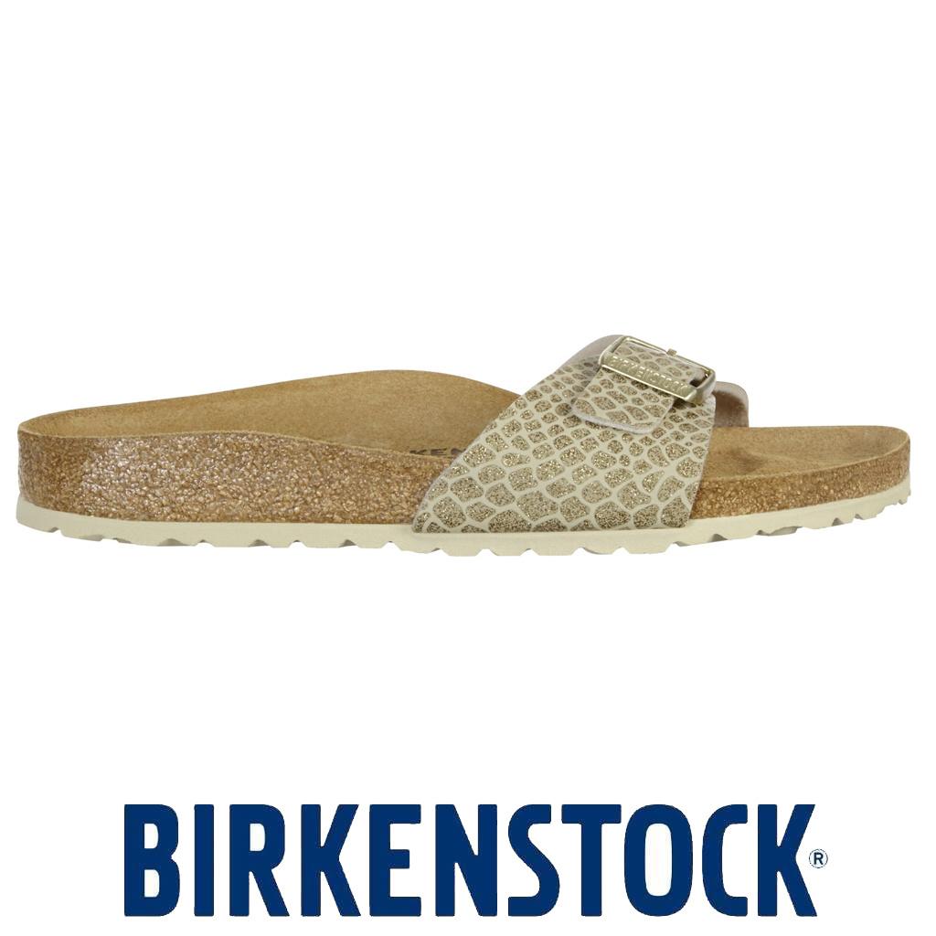 Birkenstock Slippers Madrid Magic Snake Gold Dames   BD STORE