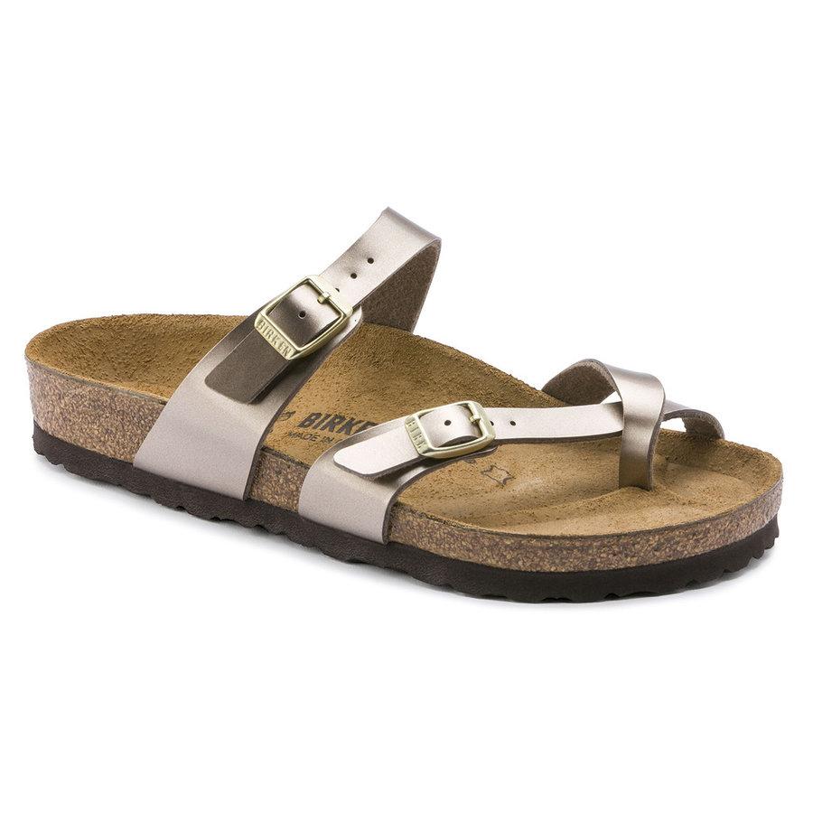 Mayari Electric Metallic Taupe Slippers Dames