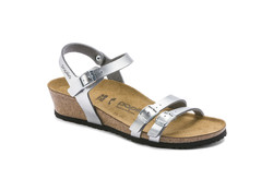 Papillio Lana Metallic Silver Sandalen Dames