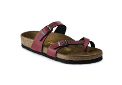 Birkenstock Mayari Pull Up Bordeaux  Slippers Dames