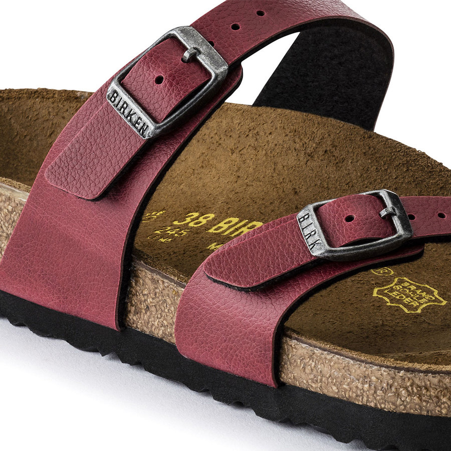 Mayari Pull Up Bordeaux Slippers Dames
